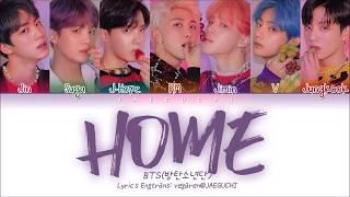 Download BTS (방탄소년단) - HOME (Color Coded Lyrics Eng/Rom/Han/가사) Video