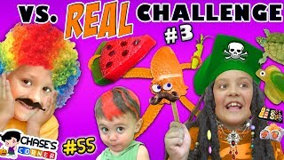 Download GUMMY vs. REAL FOOD CHALLENGE #3 🍉 Chase's Corner Halloween Brothers |#55 DOH MUCH FUN Video