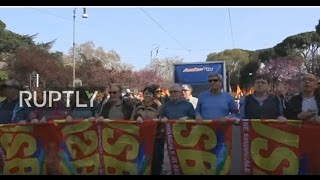 Download LIVE: 'Eurostop' rally to take place in Rome Video