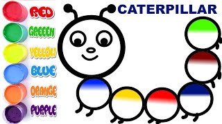 Download Caterpillar Coloring Page | Learn Colors forKids Video