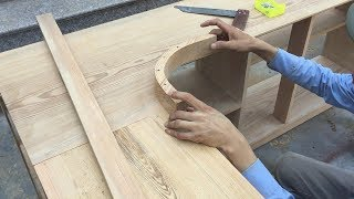 Download Woodworking Technology Curved Wood - How To Make Logs Curved Wood, Finishing Kitchen Cabinets Video
