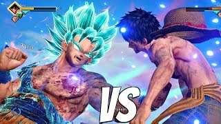 Download JUMP FORCE - Luffy vs Goku SSB Kaioken 1vs1 Gameplay (PS4 Pro) Video