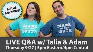 Download LIVE Q&A w/ Talia & Adam - Ask us anything! Video
