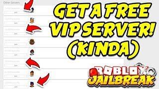 Download Roblox Jailbreak HOW TO GET A FREE VIP SERVER!! (Kinda) | Roblox+ Extension Video