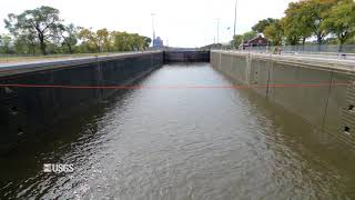 Download Timelapse of Brandon Road Lock during USGS Dye Study Video