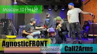 Download Agnostic Front supported by Call2Arms (Moscow live 2019) Video