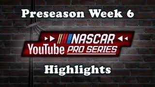 Download NASCAR YouTube Pro Series Preseason Week 6 Highlights | NASCAR Heat 3 Video