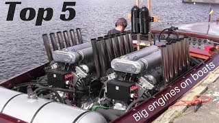 Download TOP 5 Big engines in small Boats [inboard open boat] Video