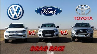 Download Amarok vs Ranger vs Hilux + DRAG RACE! Video