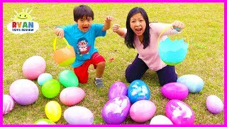 Download Huge Easter Egg Hunt Surprise Toys for kids outdoor fun with Ryan ToysReview Video