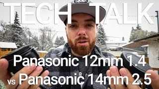 Download Panasonic 12mm 1.4 vs 14mm 2.5 with Wide Conversion (11mm) Review Video