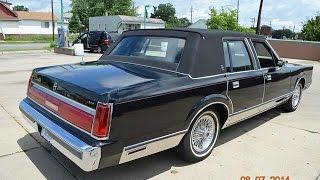Download 1986 Lincoln Town Car for sale triple black, low miles auto appraisal Detroit Mi Video