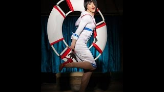 Download Makeeva performing comedy pin-up style circus gymnastics Video
