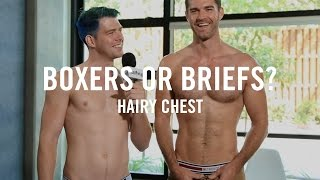 Download Boxers or Briefs: Hairy Chest | Los Angeles Guys With Hairy Chests Answer Boxers or Briefs Video