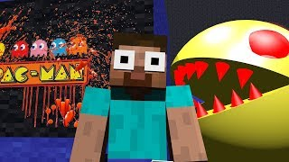 Download Monster School : HORROR PACMAN & MINION RUSH Challenge - Minecraft Animation Video