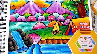 How To Draw Cara Mewarnai Gradasi Crayon Oilpastel Bunny Free