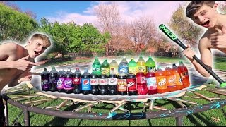 Download TRAMPOLINE VS EVERY SODA! *EXPLOSIONS* Video