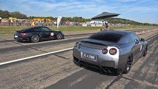 Download 1000HP Nissan GT-R R35 vs 800HP BMW M5 F10 TTH TURBOLADER Video