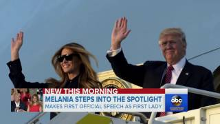 Download Melania Trump first speech as First Lady Video