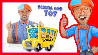 Download School Bus Toy with Blippi | Wheels On The Bus Song Video