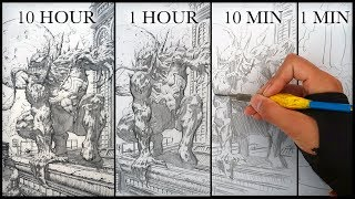 Download DRAWING VENOM in 10 HOURS, 1 HOUR, 10 MINUTES & 1 MINUTE! Video