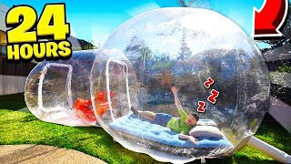 Download SPENDING 24 HOURS IN A BUBBLE TENT! Video