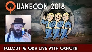 Download Fallout 76 Character System, Perks, & Q&A Live @ Quakecon - Covered by Oxhorn Video