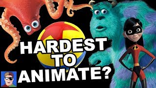 Download TOP 10 Hardest to Animate Things in Pixar Video
