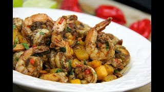 Download Stove-top Mango Jerk Shrimp #TastyTuesdays | CaribbeanPot Video
