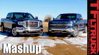 Download 2016 Chevy Silverado 5.3L vs GMC Sierra 6.2L Drag Race & MPG Mashup Review Video
