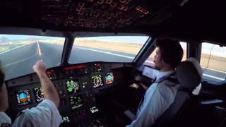Download Lanzarote GCRR Cockpit view landing rwy 03 in dusk Video