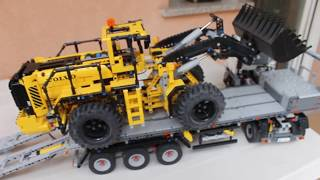 Download Rc Moc Lego Technic 42043 model b Mercedes Arocs truck + Lego Technic 42030 Volvo Video