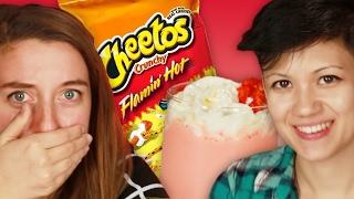 Download People Try The Hot Cheetos Milkshake Video