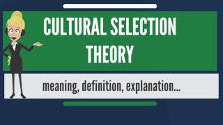 Download What is CULTURAL SELECTION THEORY? What does CULTURAL SELECTION THEORY mean? Video