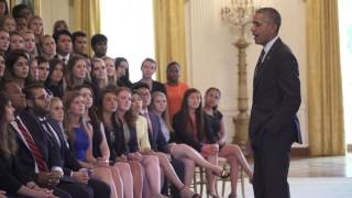 Download Obama Candid Answers To Intern Questions- Full Video Video