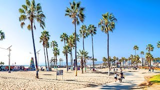 Download [Full HD] Walking from Venice Beach Boardwalk to Santa Monica Pier in Los Angeles, California Video
