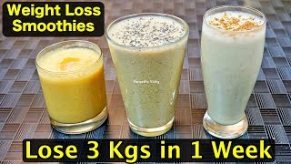 Download Healthy Smoothie Recipes For Weight Loss | Lose 3Kg in a Week | Breakfast Smoothies For Weight Loss Video