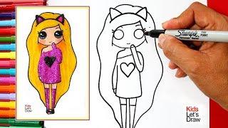 Download Aprende a dibujar una CHICA TUMBLR con BRILLANTINA | How to Draw a Glitter Tumblr Girl Video