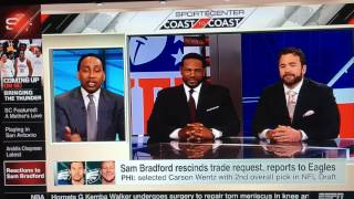 Download Stephen A Smith gets embarrassed by Jeff Saturday Video