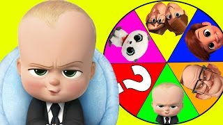 Download Boss Baby Movie Spin The Wheel Game Part 3 with Spiderman & Paw Patrol Toys, Slime | Ellie Sparkles Video