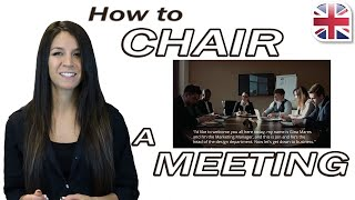 Download Chair a Meeting in English - Useful English Phrases for Meetings - Business English Video