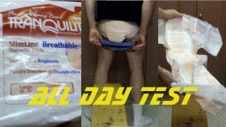 Download wearing Tranquility Slimline® Breathable adult diapers. Test and review Video