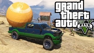 Download ★ GTA 5 - Hauling the Giant Orange Ball! Offroad 4x4! - GTA V Online Funny Moments! Video