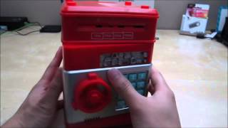 Download Vandesail Money Safe ATM Bank Novelty Toy Review Video