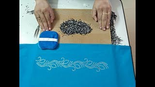 Download How to Stone Board make a Rhinestone Transfer and Apply to Saree Borders Video Video