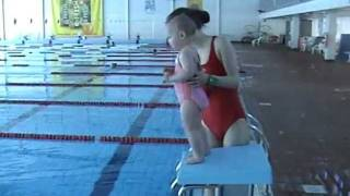 Download Baby Swimming (Arabel - 1 year and 9 months old swimming in the Aura Centre). Video