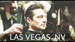 Download Scissor Slinging Las Vegas Haircut Experience at Cliff's Barber Corral Video