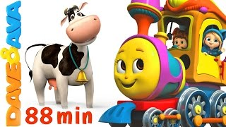 Download 🐏 Farm Animals Train | Learn Farm Animals & Animal Sounds | Educational Videos from Dave and Ava 🐏 Video