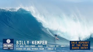 Download Billy Kemper at Pea'hi Challenge 2 - 2018 Wipeout of the Year Award Entry - WSL Big Wave Awards Video