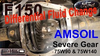 Download Ford F150 Differential Fluid Change - AMSOIL Severe Gear 75W-140 & 75W-90 Video